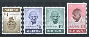 India 1948 1st Anniversary of Independence Gandhi SG305-308 MH/ MNH aVF Complete