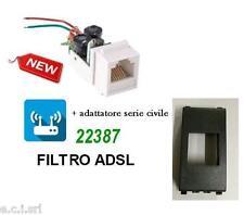 FILTRO ADSL RJ11 DA INCASSO FRUTTO PER VIMAR EIKON NERA