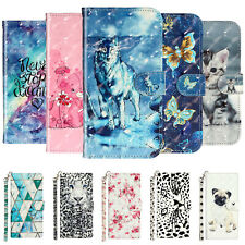 For LG Stylo 6 5 4/K51 Q51/V40 G8 G7 ThinQ 3D Painted Leather Case Wallet Cover