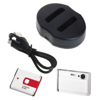 NP-BG1/FG1 Dual Battery Charger For Sony CyberShot DSC-HX30V DSC-HX20V DSC-HX10V