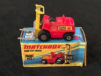 Matchbox Superfast No 15 Fork Lift Truck Nr Mint In Box 1972 Diecast Model Toy