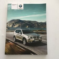 BMW X3 OWNERS MANUAL PACK .