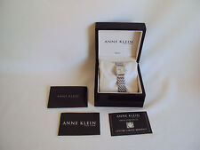 VINTAGE ANNE KLEIN NEW YORK DIAMOND SWISS MOVEMENTS SILVER TONE WOMAN WATCH USED
