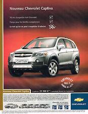 PUBLICITE ADVERTISING 045  2005  CHEVROLET  CAPTIVA  mondial de l'auto