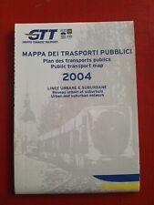Cartina mappa dei trasporti pubblici GTT 2004 Torino