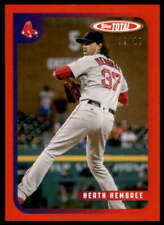 Heath Hembree 2020 Topps Total Red #671 /10 Red Sox