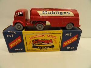 MATCHBOX MAJOR PACKS M-8 MOBILGAS TRUCK Rare Gray Plastic Wheels in Box