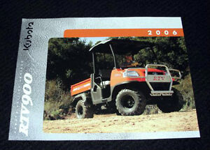 ORIGINAL KUBOTA RTV900 RTV 900 UTILITY VEHICLE CATALOG BROCHURE VERY NICE