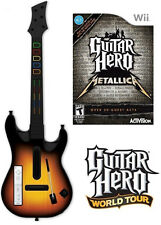 NEW Nintendo Wii Guitar Hero World Tour Wireless Guitar & Metallica Game Bundle