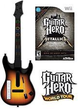 NEW Nintendo Wii Guitar Hero World Tour Wireless Guitar & Metallica Game Bundle