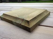 """Finial base for 6"""" fence posts, decking, treated wood"""
