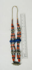 Old Afghan Silver & Lapis Lazuli Tribal Necklace
