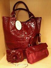 Patent Leather Shoulder Bag 3 Piece Color Red Parinda