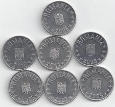 7 - 10 BANI COINS from ROMANIA (2005, 2006, 2007, 2008, 2009, 2010 & 2011)