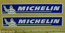"2 Michelin Tires Tire Man NASCAR Auto Drag Racing tool box decal sticker 8"" lot"