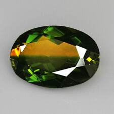9Ct Man Made Bi Color Glass Yellow Green Oval Cut MQYG19