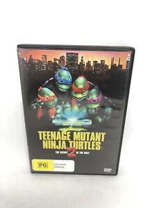 TEENAGE MUTANT NINJA TURTLES II DVD Region 4 Movie Very Good Condition