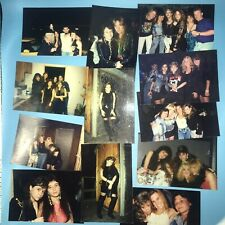 1990's Heavy Metal Bands & Groupies 12 Photographs Lot B