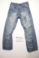 Levis engineered 620 (Cod. F1412) Tg46 W32 L32 jeans usato destroyed