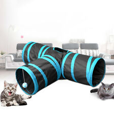 EG_ PET CAT TUNNEL OUTDOOR ARCTIC 3 WAY Y SHAPE FOLDABLE KITTY RABBIT TOY COMELY