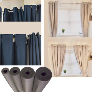 Foam Pipe Insulation to Pleat Curtains Curtain Rails Poles Rods Bars HINCH HACKS