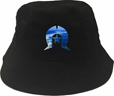 Torres Strait Flag Shield Islander Bucket Hat Small to Extra Large Soft Cotton