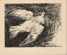 PABLO PICASSO - THE DOVE IN FLIGHT 1* RARE EAST GERMAN GDR HELIOGRAPHY FROM 1956