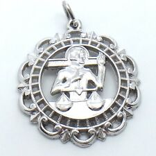 RJL Justice Balance Scales Sterling Silver Necklace Pendant Charm 4.3g G871