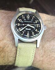 1990s HAMILTON Khaki 9415A Military Watch Original Band Hacking ETA 2801-2 Runs