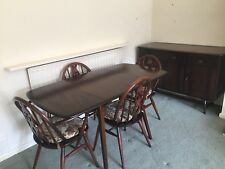 Ercol Dining Room Suite - drop leaf table, 4 chairs and sideboard