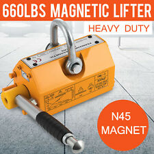 300Kg Steel Magnetic Lifter Heavy Duty Crane Hoist Lifting Magnet 660lb