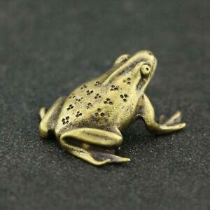 Retro Brass Frog Figurine Mini Animal Statue Home Office Desk Decor  Gift