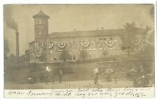 RPPC Railroad Knitting Mill NEWVILLE PA Cumberland County Real Photo Postcard