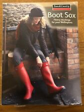 BNIB TOWN & COUNTRY WELLINGTON BOOT SOX FLEECY GREEN 6-8 £6.99 XMAS PRESENT