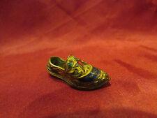 ancienne petite chaussure metal doré cloisonné emaillé orientale