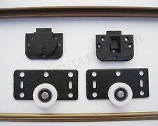binario per 2 ante porte armadio con accessori bronzo cm 150 max 30kg da incasso