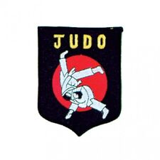 """NEW Judo Patch for Judo Gi Uniform Judo Flip Martial Arts Patch BK/RD-4.5""""x3.5"""""""
