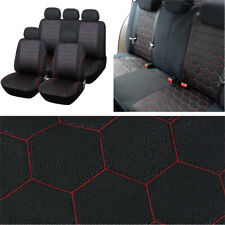 9Pcs Auto Seat Covers Full Set Cushion Protector Football Texture for 5 seat Car
