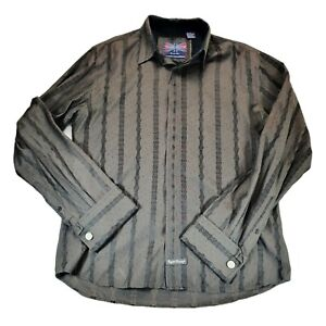 English Laundry Men Size M Button Front Shirt Christopher Wicks Brown