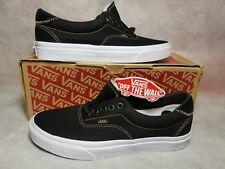 New Vans Authentic Pro Men Size 6.5 Canvas Stitch Suede Black White Skate Shoe