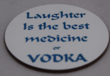 Vodka fun coaster - ideal gift - FREE PERSONALISATION