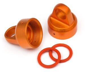 Hpi 108070 Aluminum Top Shock Cap Orange (2pieces) For Threaded Shock Set