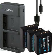 3 Akku Fuji NP-W126s PATONA Platinum + Dual USB Ladegerät für fujifilm X-T3 W126
