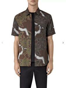 Allsaints Zapata Short Sleeve Shirt Size S-M Men's Hawaiian Floral