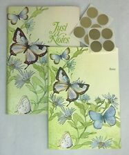 Vintage Current Fold-Over Blank Greeting Note Cards 10 Butterfly Cards + Seals