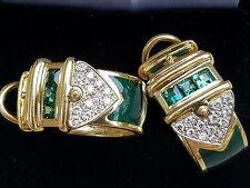 Tourmaline Earrings 18k Gold Earrings Diamond Earrings Enamel Earrings Designer