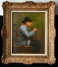 Tableau Portrait d'homme signé post impressionniste- Superbe