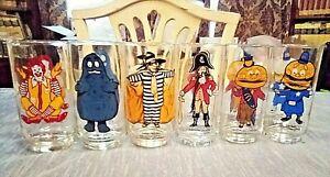 Vintage 1977 McDonalds COLLECTOR SERIES Glasses COMPLETE SET of 6