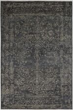 New Handmade Modern Area Rug Grey Color 100% Wool Turkish Rugs Size (6 x 9)