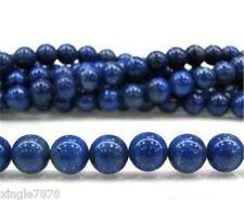 "8mm Blue Egyptian Dark Blue Lazuli Lapis Round Gemstone Loose Beads 15"""